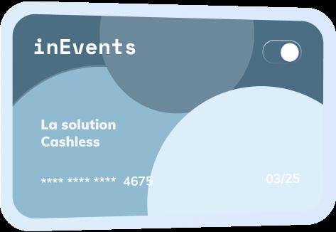 Carte cashless InEvents