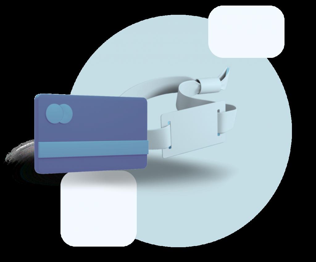 bracelet ou carte pour le paiement cashless